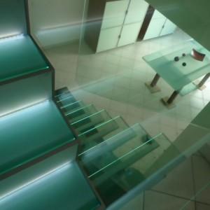 faire un escalier en verre