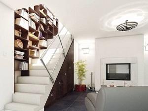 bibliotheque avec escalier
