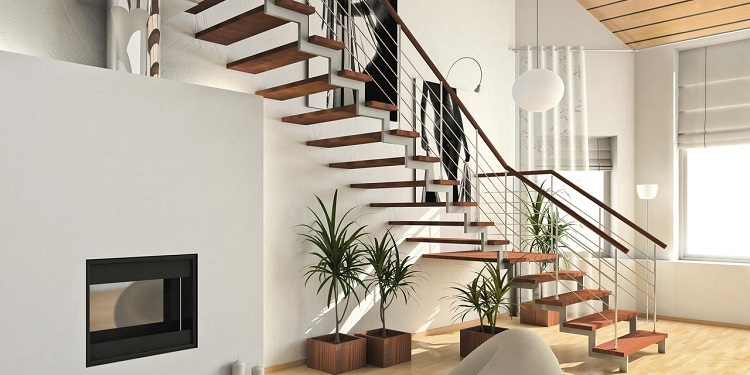 escalier et design de l 39 espace d 39 une maison. Black Bedroom Furniture Sets. Home Design Ideas