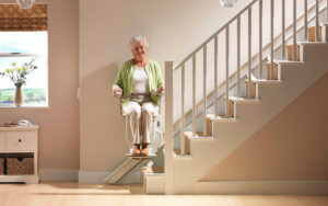 Monte escalier confortable